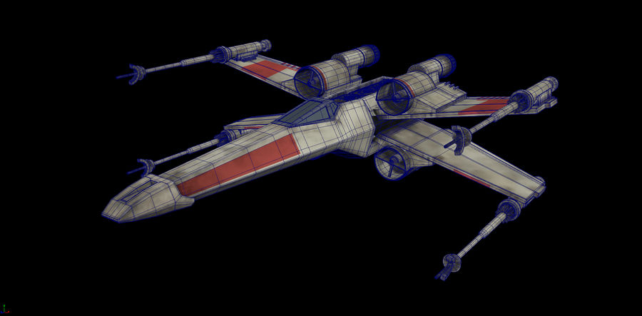 X-Wing Rigged royalty-free 3d model - Preview no. 7