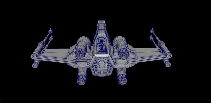 X-Wing Rigged royalty-free 3d model - Preview no. 6