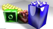Toys - Brick block 3d model