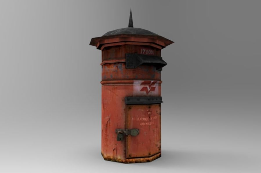 letter_box royalty-free 3d model - Preview no. 1