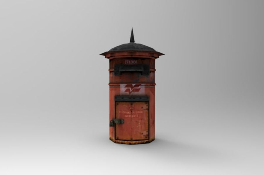 letter_box royalty-free 3d model - Preview no. 2