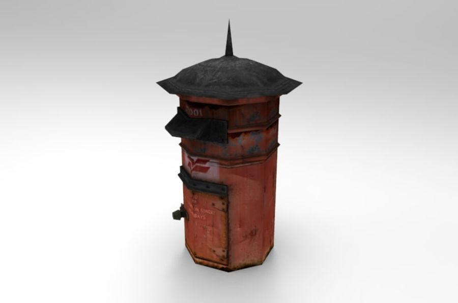 letter_box royalty-free 3d model - Preview no. 3