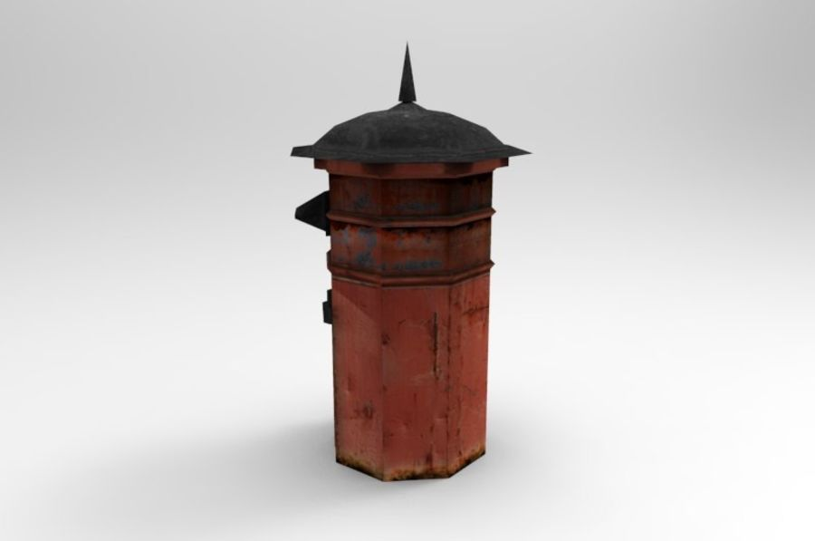 letter_box royalty-free 3d model - Preview no. 4