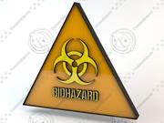 Signes de danger biologique 3d model