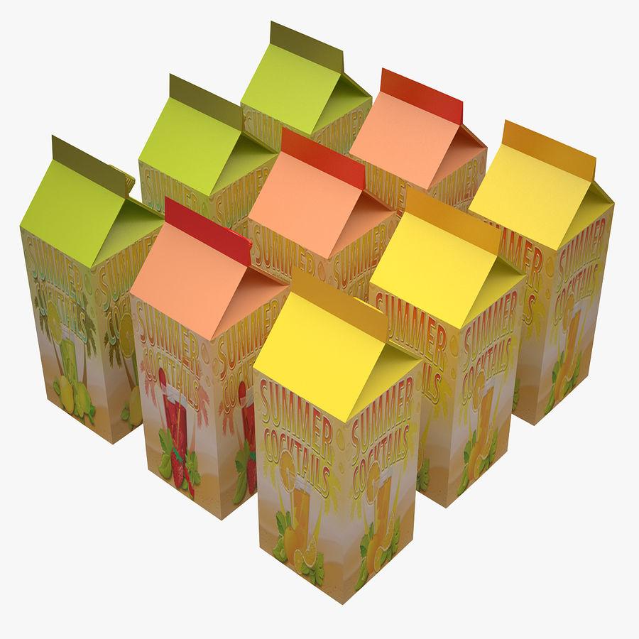 Fruit Juice Box royalty-free 3d model - Preview no. 4