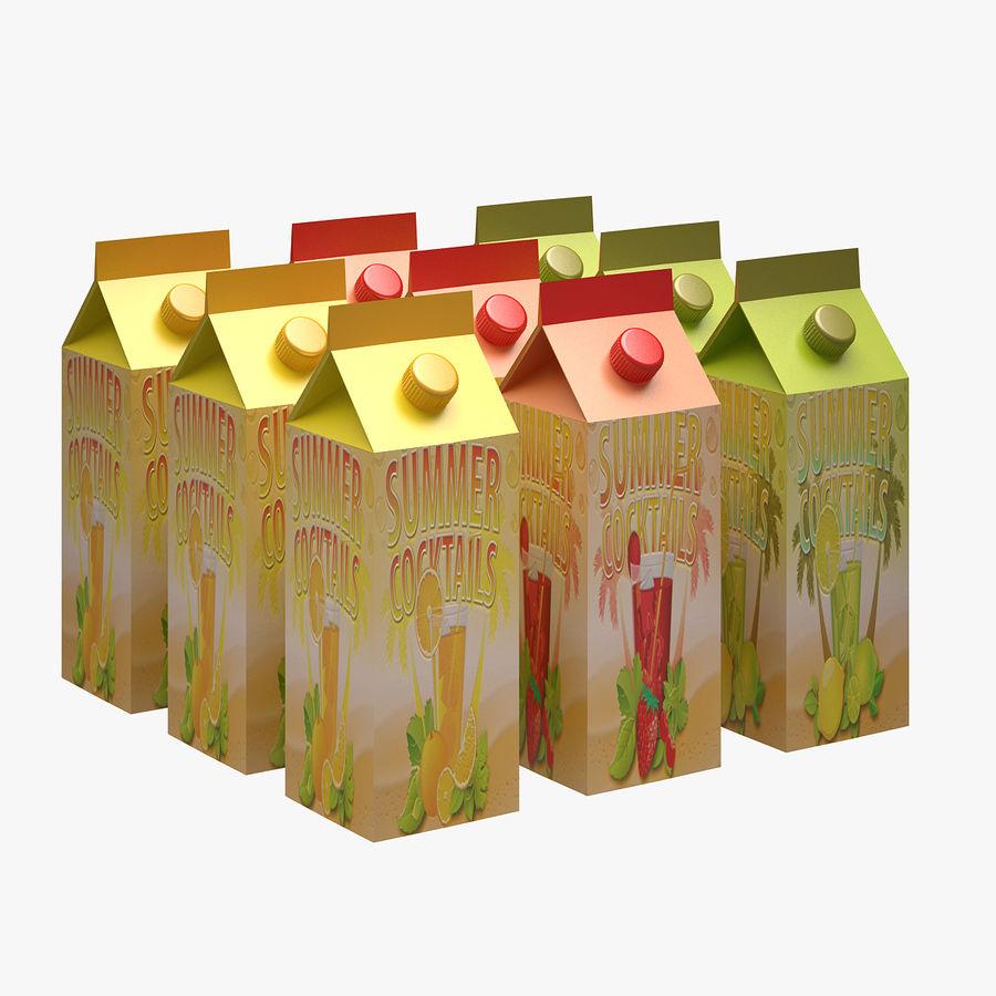 Fruit Juice Box royalty-free 3d model - Preview no. 1