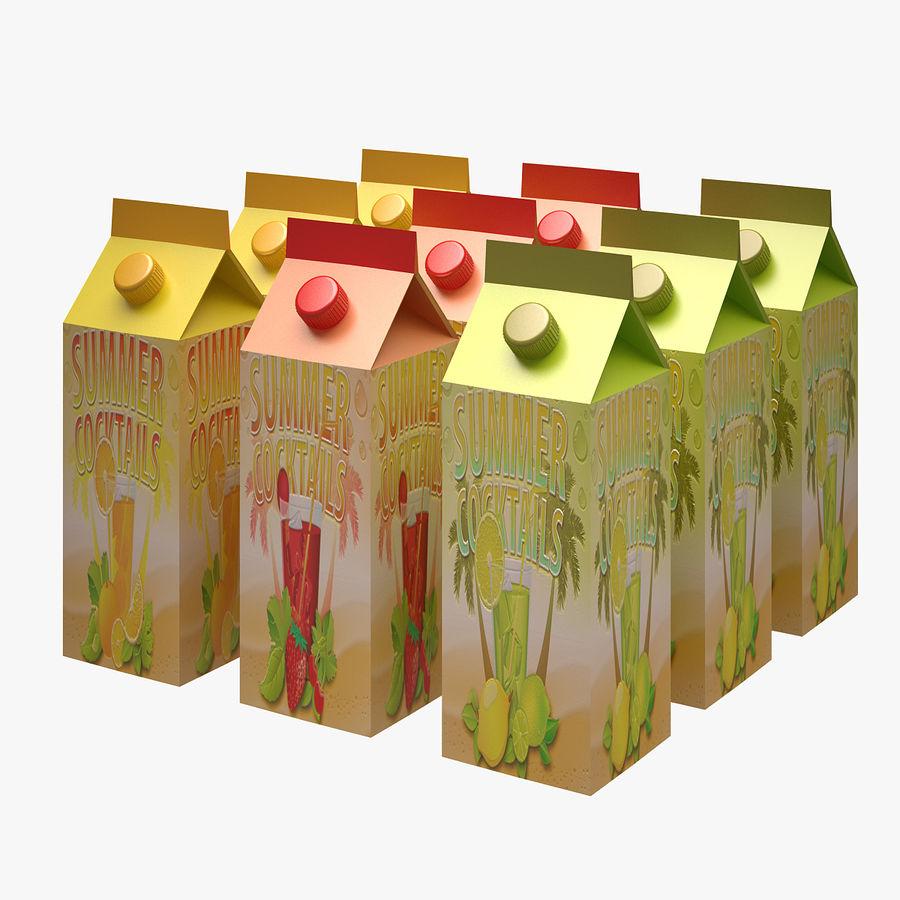 Fruit Juice Box royalty-free 3d model - Preview no. 2