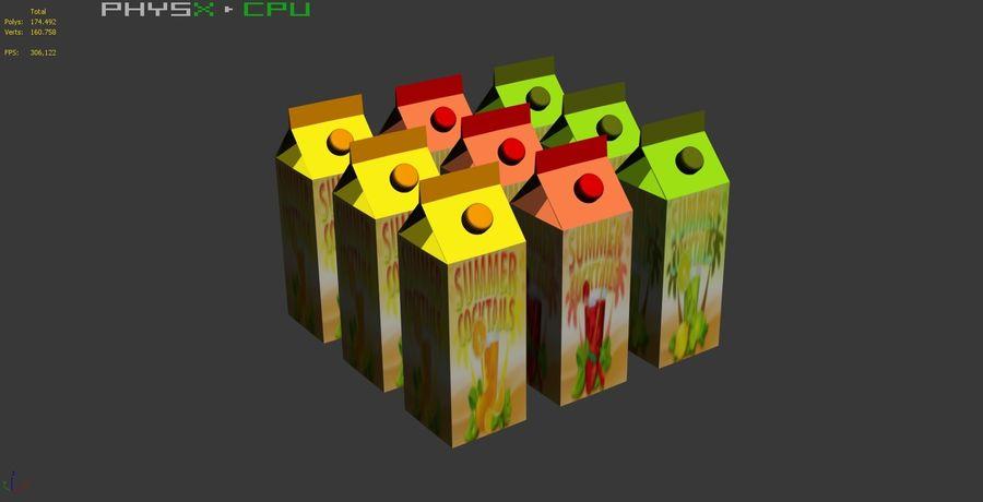 Fruit Juice Box royalty-free 3d model - Preview no. 9