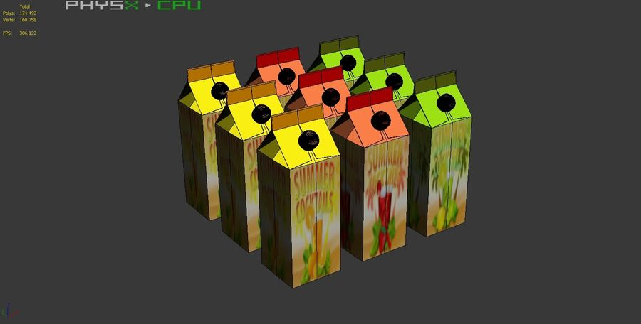 Fruit Juice Box royalty-free 3d model - Preview no. 10