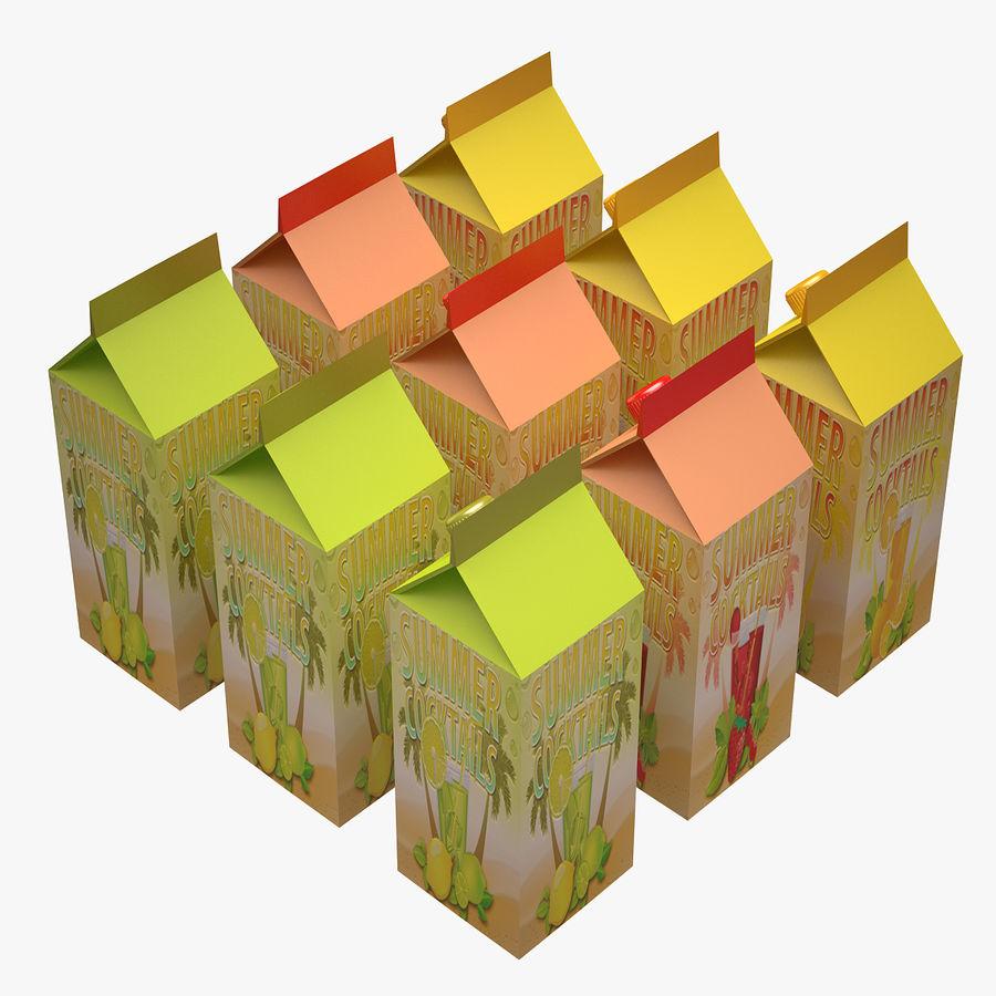 Fruit Juice Box royalty-free 3d model - Preview no. 3