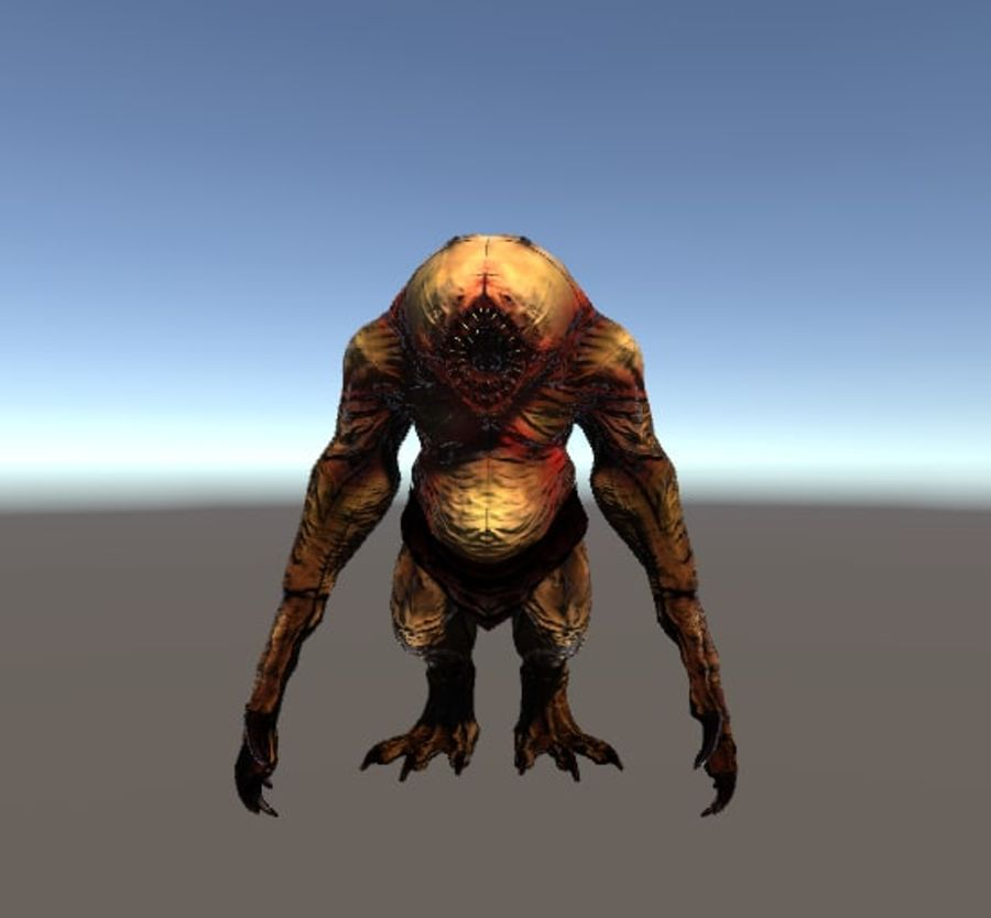 Jaskiniowy potwór royalty-free 3d model - Preview no. 1
