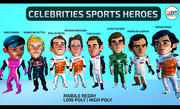 Beroemdheden sporthelden 3d model
