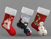 Chaussettes de Noël 3d model