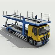 自動車運搬車-低ポリ 3d model