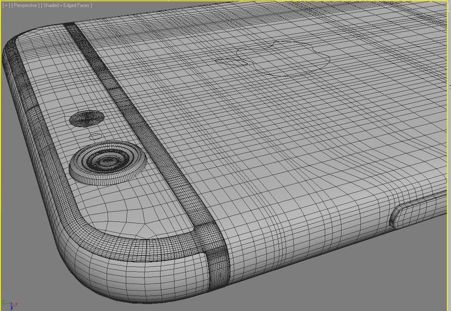 Apple iPhone 6s royalty-free 3d model - Preview no. 14