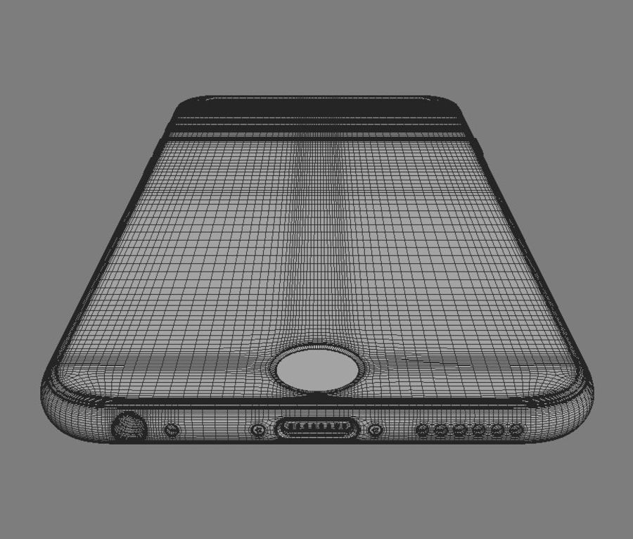 Apple iPhone 6s royalty-free 3d model - Preview no. 11