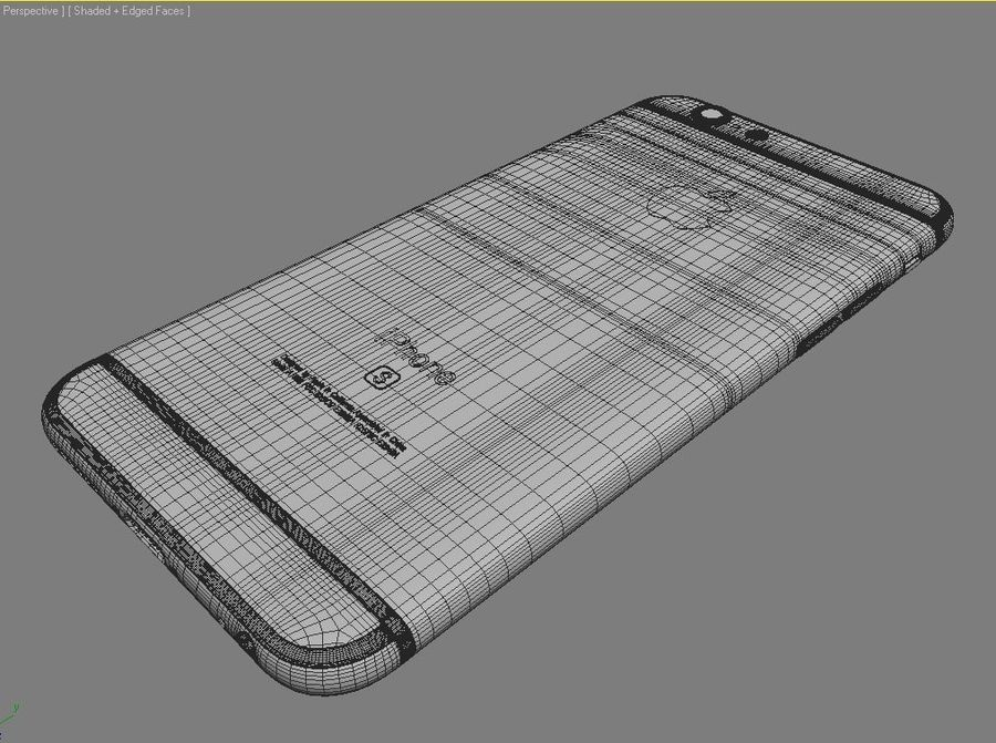Apple iPhone 6s royalty-free 3d model - Preview no. 15