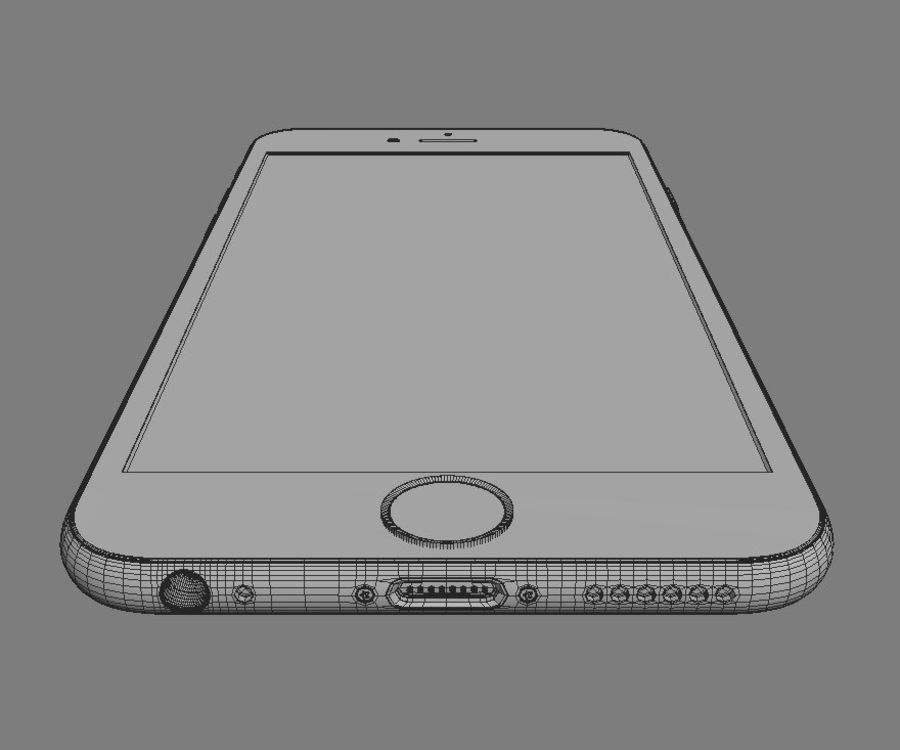 Apple iPhone 6s royalty-free 3d model - Preview no. 13