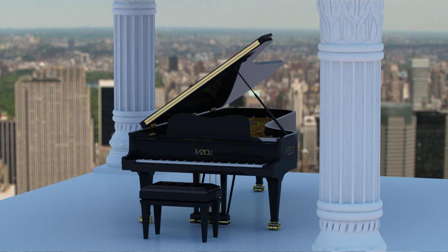 Fazioli F308 Concert Grand Piano royalty-free 3d model - Preview no. 3
