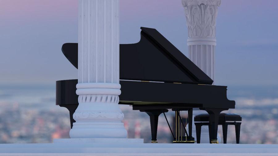 Fazioli F308 Concert Grand Piano royalty-free 3d model - Preview no. 4