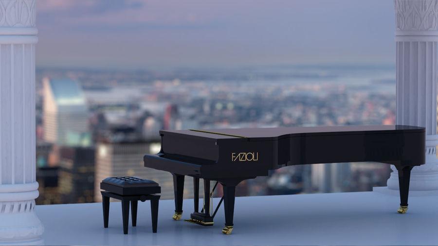 Fazioli F308 Concert Grand Piano royalty-free 3d model - Preview no. 2
