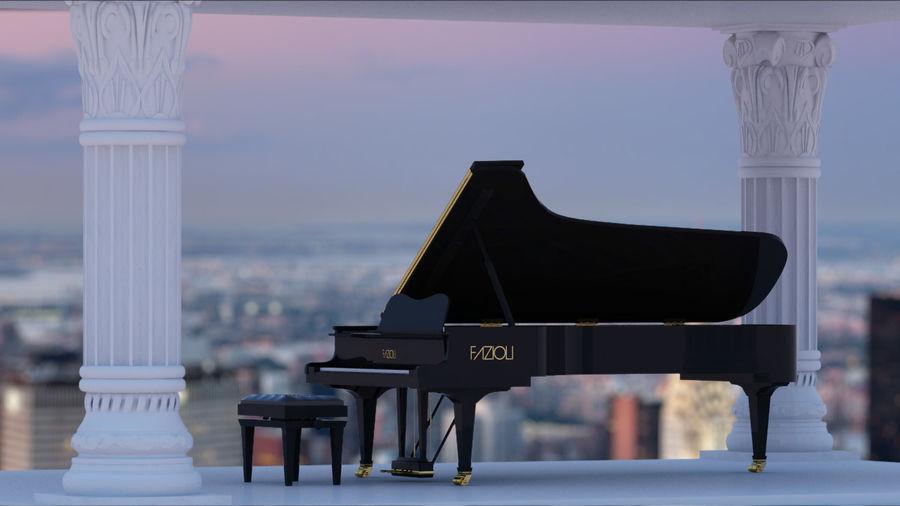 Fazioli F308 Concert Grand Piano royalty-free 3d model - Preview no. 1