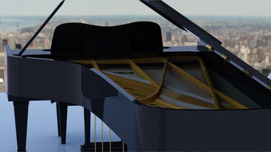Fazioli F308 Concert Grand Piano royalty-free 3d model - Preview no. 5
