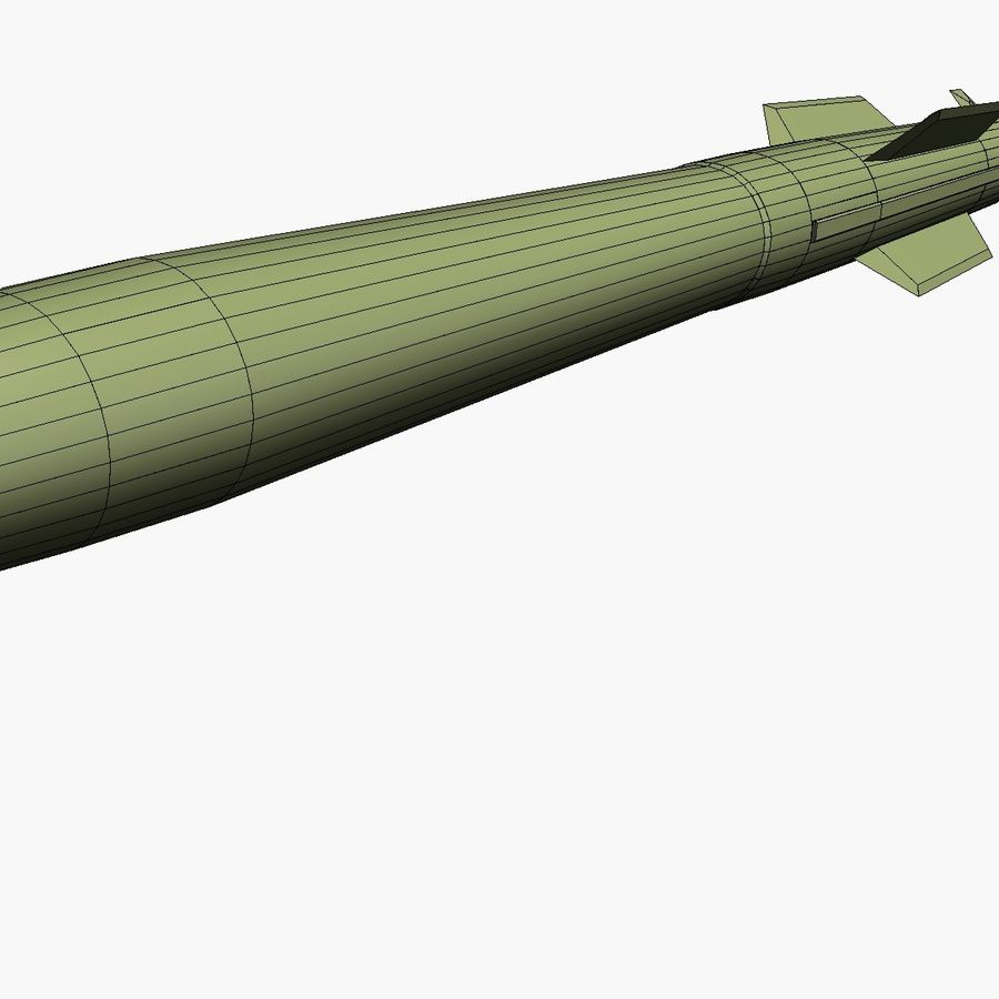 MIM-104F PAC-3 MSE Missile royalty-free 3d model - Preview no. 7