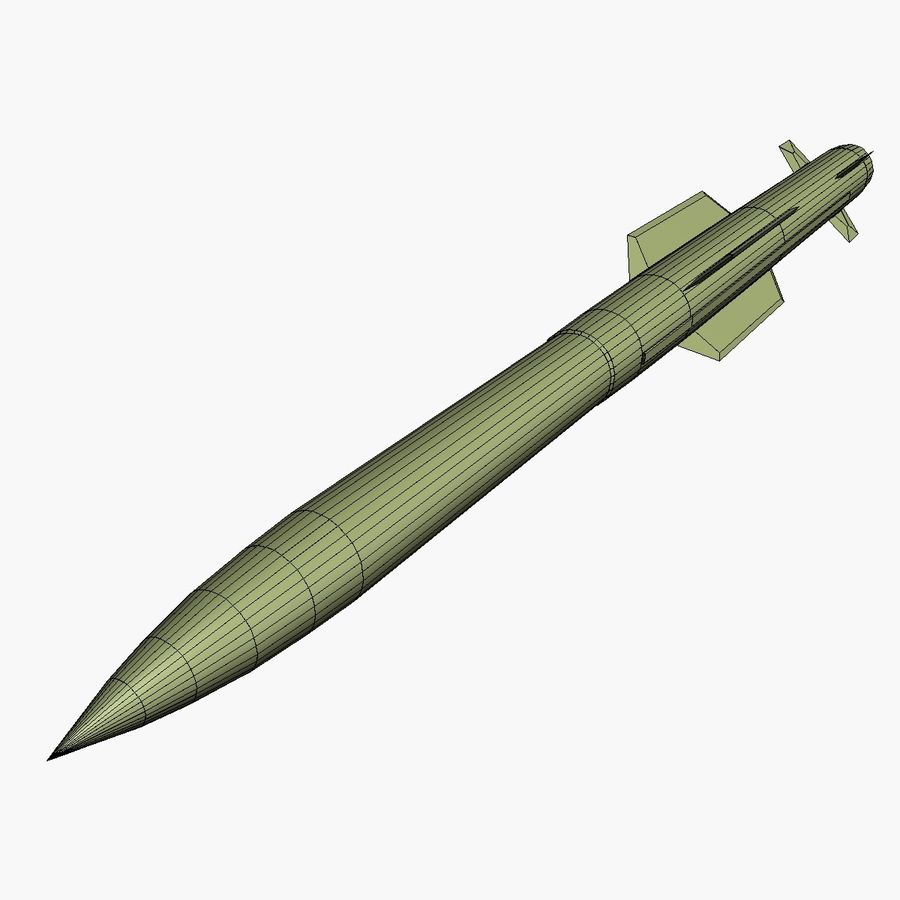 MIM-104F PAC-3 MSE Missile royalty-free 3d model - Preview no. 6