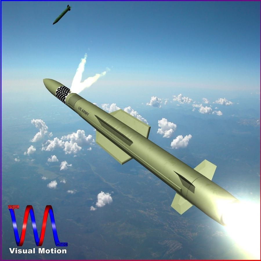 MIM-104F PAC-3 MSE Missile royalty-free 3d model - Preview no. 1