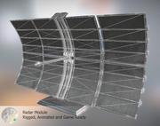 Módulo de radar modelo 3d