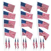 Flaga USA na wietrze 3d model