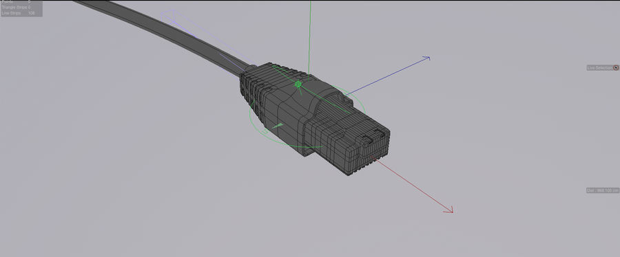 Cable de ethernet royalty-free modelo 3d - Preview no. 2