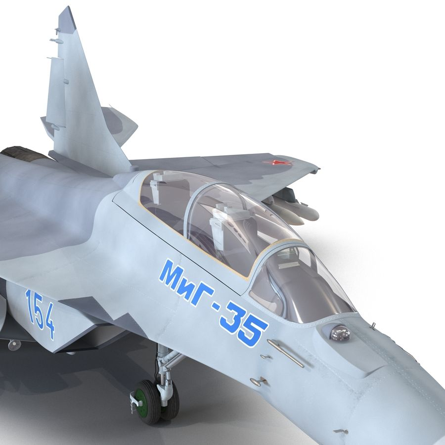 Russian Jet Fighter Mikoyan MiG-35 royalty-free 3d model - Preview no. 18