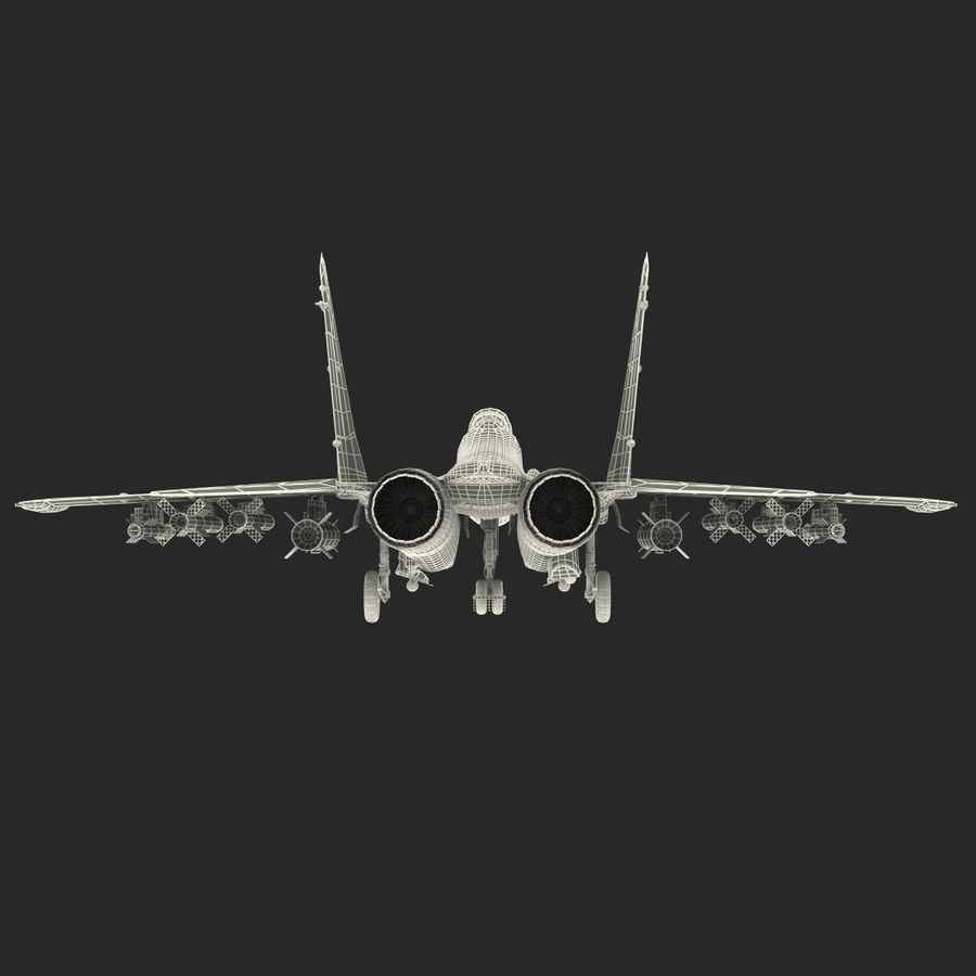 Russian Jet Fighter Mikoyan MiG-35 royalty-free 3d model - Preview no. 73