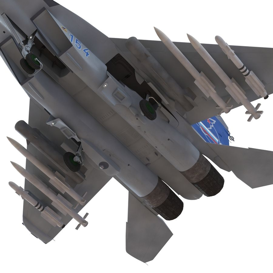 Russian Jet Fighter Mikoyan MiG-35 royalty-free 3d model - Preview no. 52