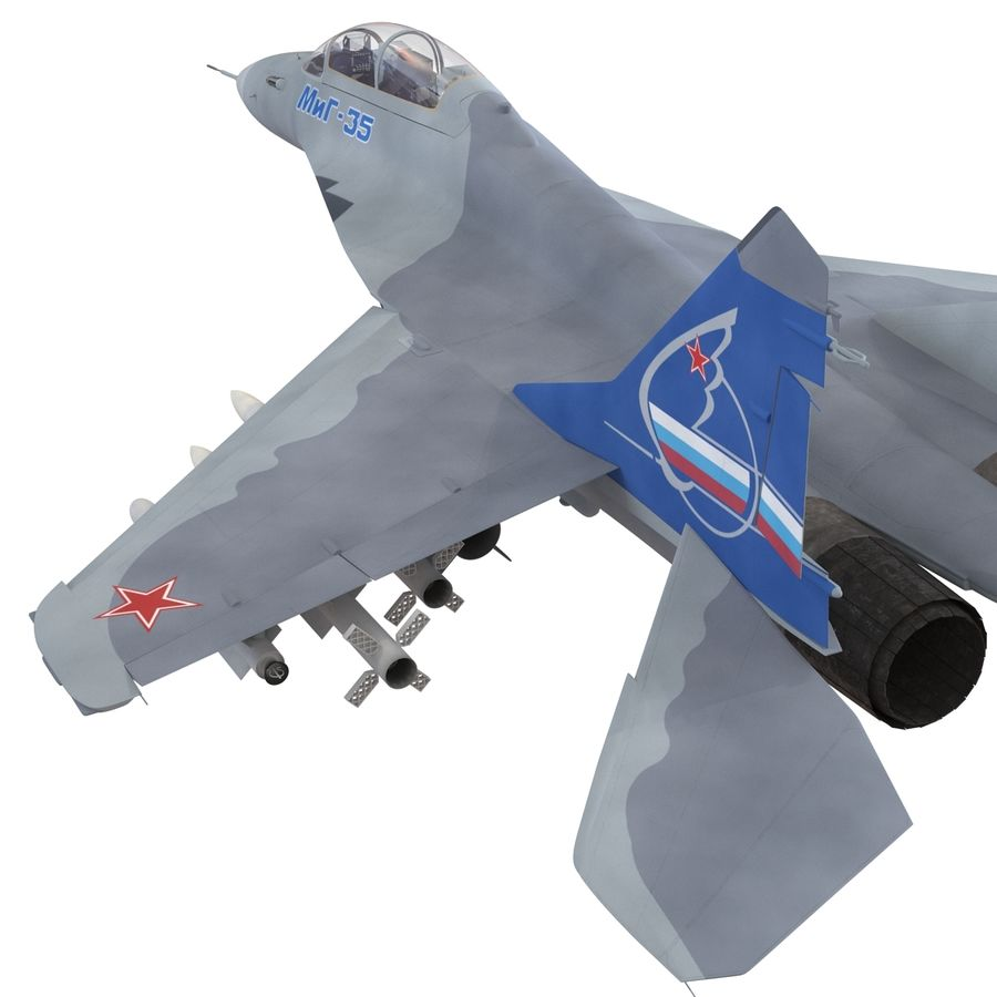 Russian Jet Fighter Mikoyan MiG-35 royalty-free 3d model - Preview no. 29