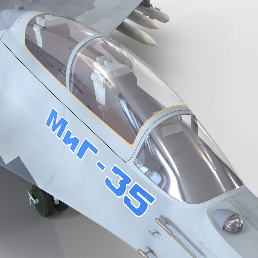 Russian Jet Fighter Mikoyan MiG-35 royalty-free 3d model - Preview no. 56