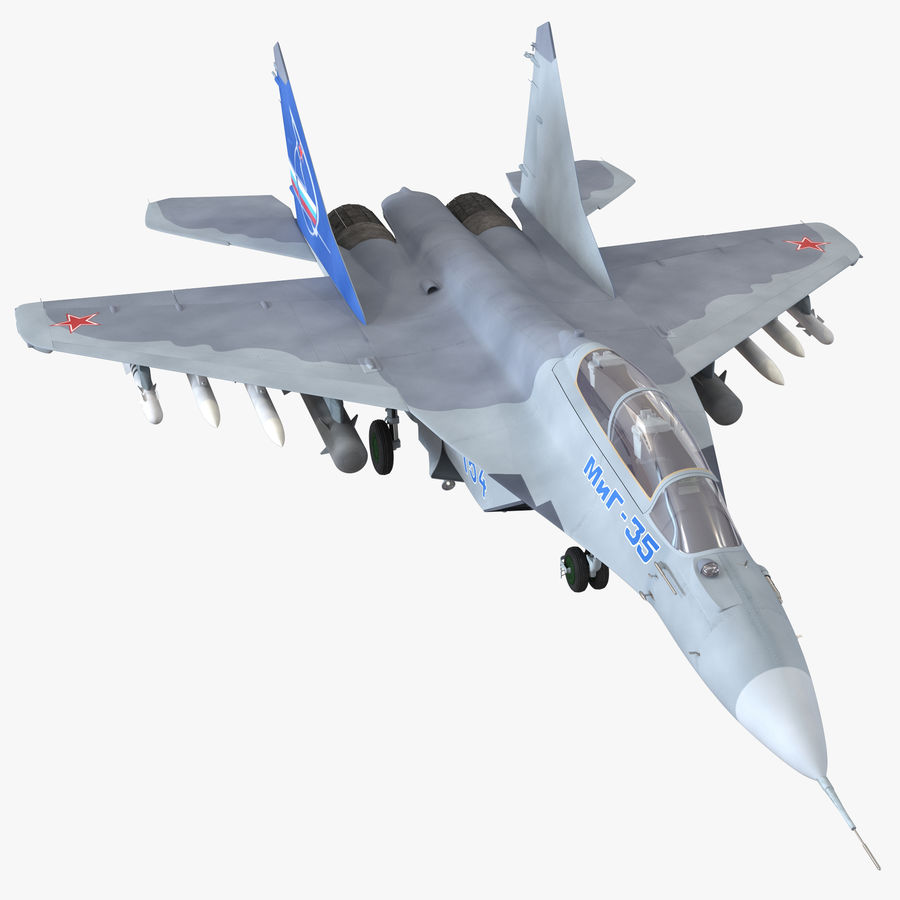 Russian Jet Fighter Mikoyan MiG-35 royalty-free 3d model - Preview no. 1