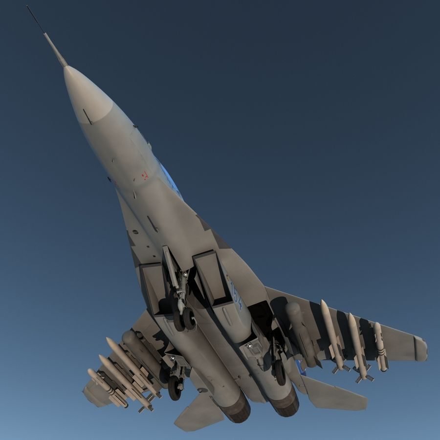 Russian Jet Fighter Mikoyan MiG-35 royalty-free 3d model - Preview no. 7