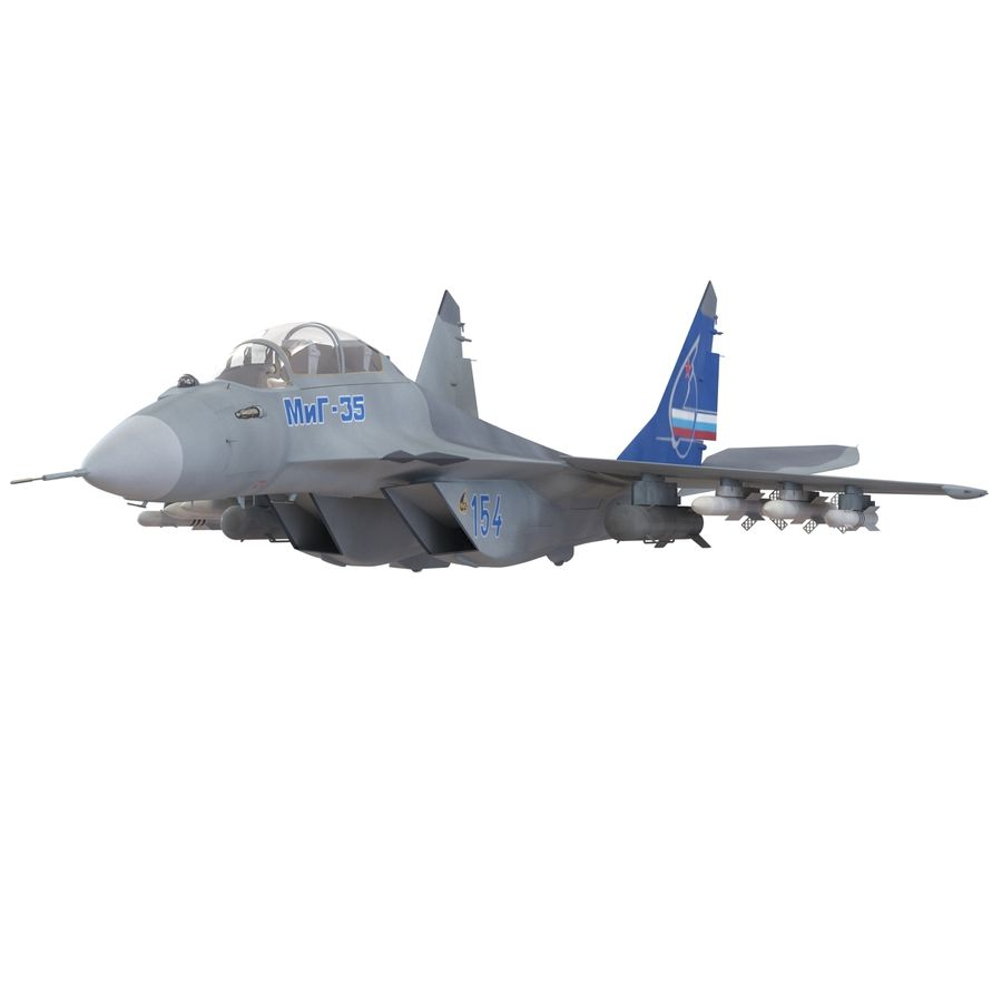 Russian Jet Fighter Mikoyan MiG-35 royalty-free 3d model - Preview no. 16