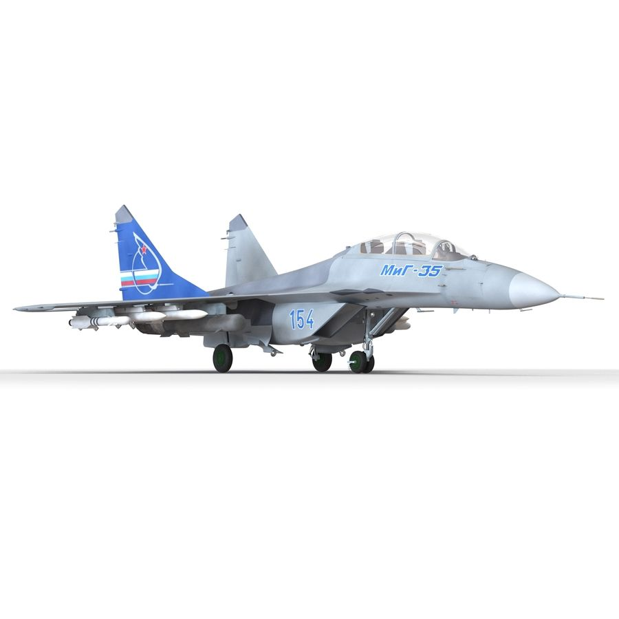 Russian Jet Fighter Mikoyan MiG-35 royalty-free 3d model - Preview no. 31