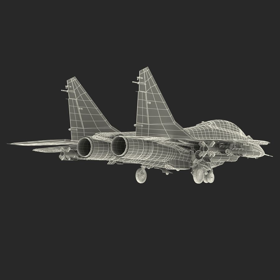 Russian Jet Fighter Mikoyan MiG-35 royalty-free 3d model - Preview no. 74