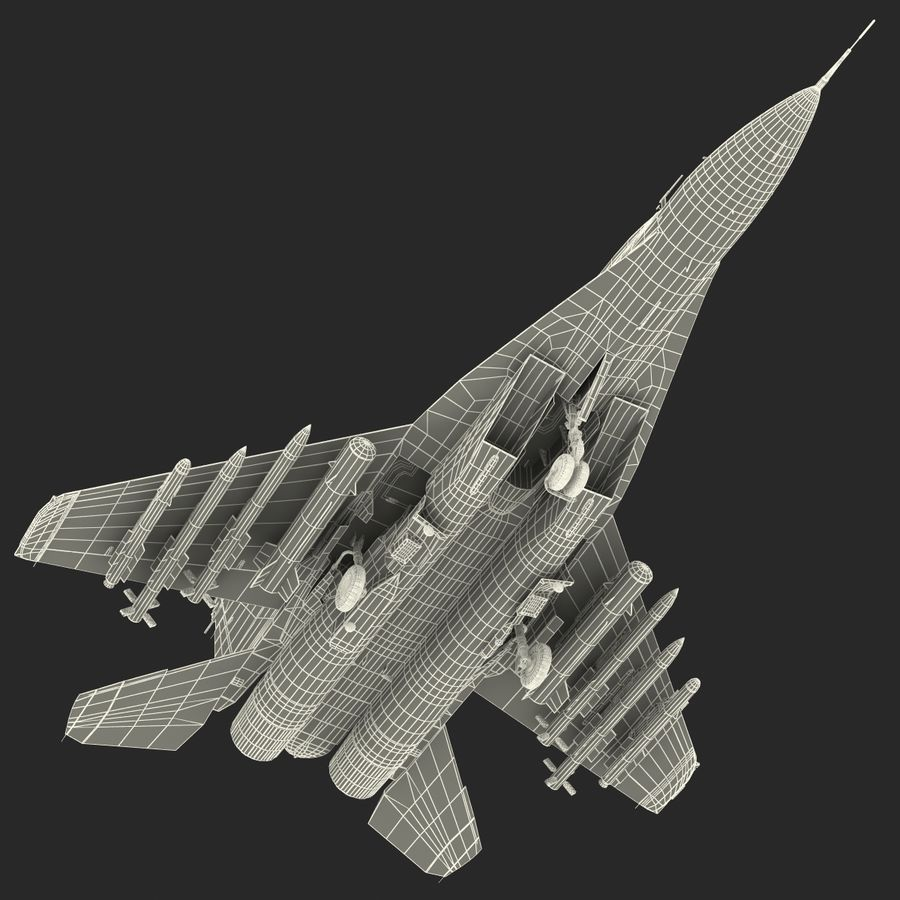 Russian Jet Fighter Mikoyan MiG-35 royalty-free 3d model - Preview no. 86