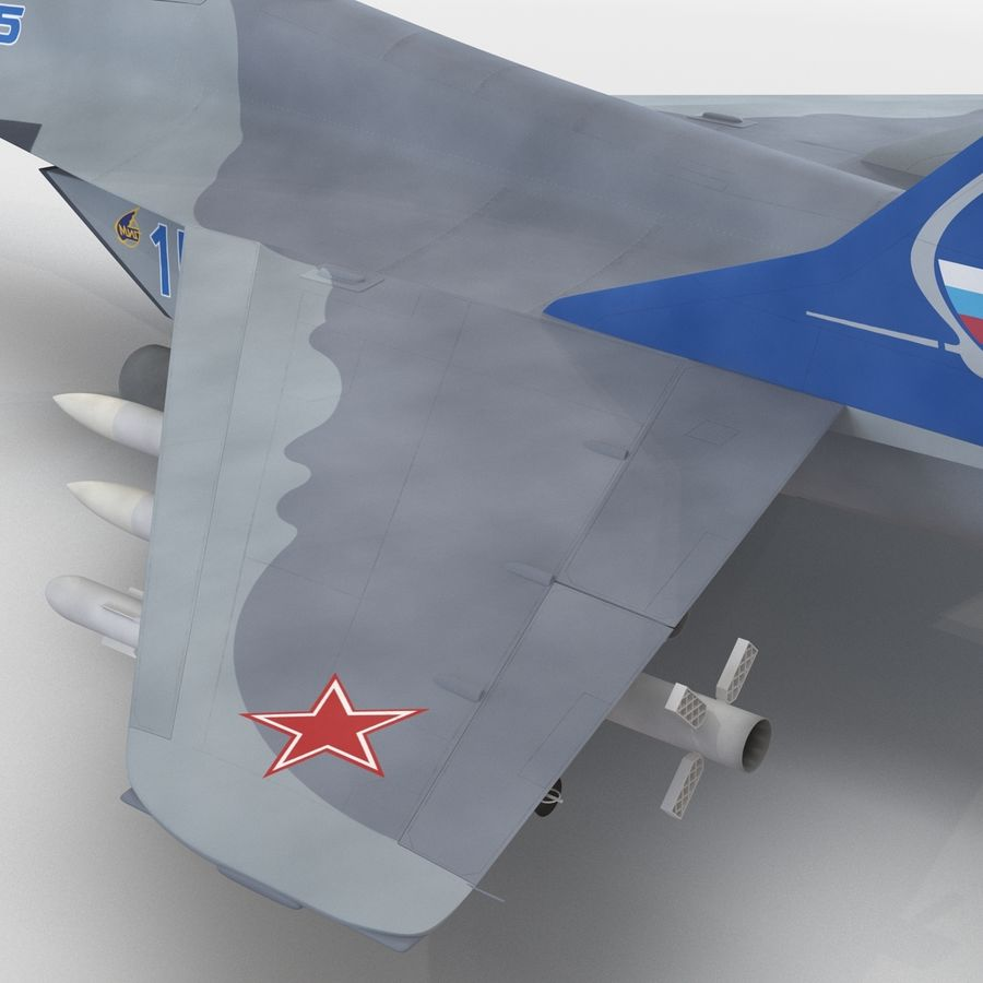 Russian Jet Fighter Mikoyan MiG-35 royalty-free 3d model - Preview no. 50