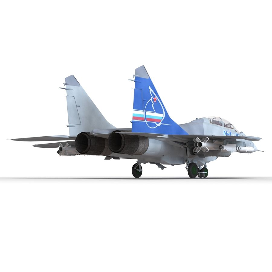 Russian Jet Fighter Mikoyan MiG-35 royalty-free 3d model - Preview no. 23