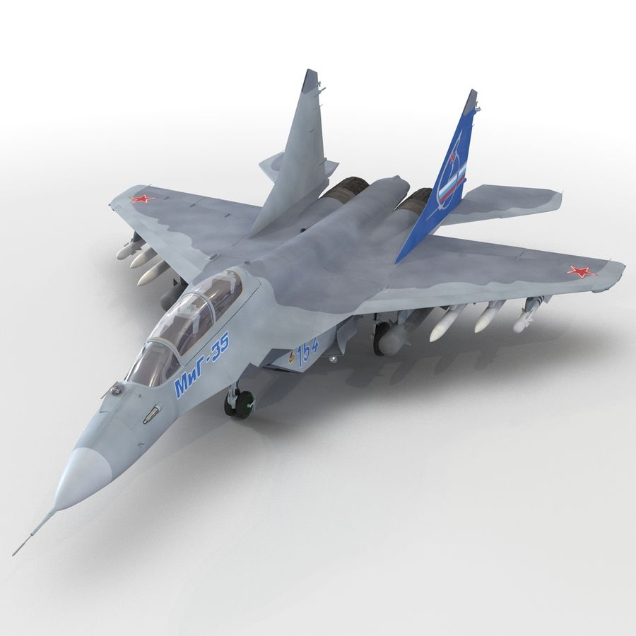Russian Jet Fighter Mikoyan MiG-35 royalty-free 3d model - Preview no. 38