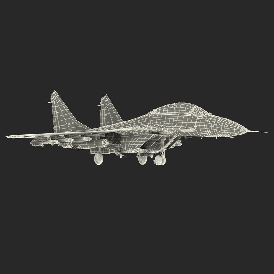 Russian Jet Fighter Mikoyan MiG-35 royalty-free 3d model - Preview no. 69