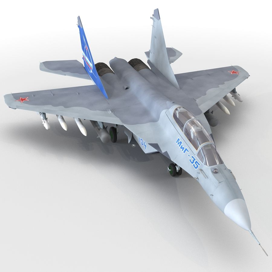 Russian Jet Fighter Mikoyan MiG-35 royalty-free 3d model - Preview no. 39