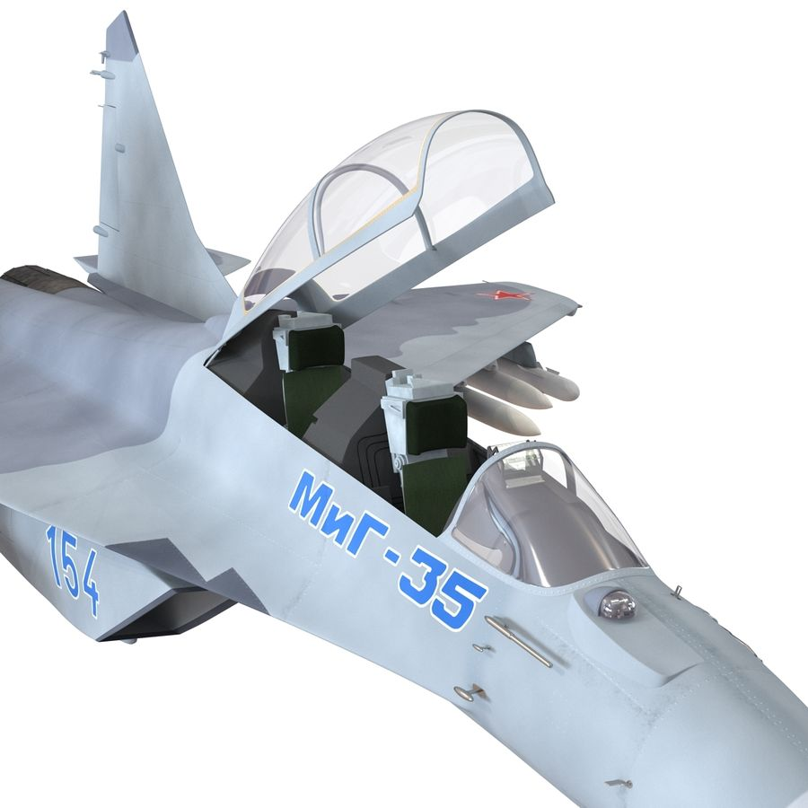 Russian Jet Fighter Mikoyan MiG-35 royalty-free 3d model - Preview no. 17
